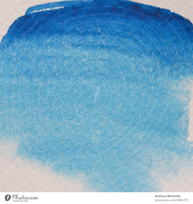 Abstract watercolor background, blue gradient Stil Sommer Kunst Natur Papier Kreativität rough Material Grunge textured Hintergrundbild Lebewesen artistic blob