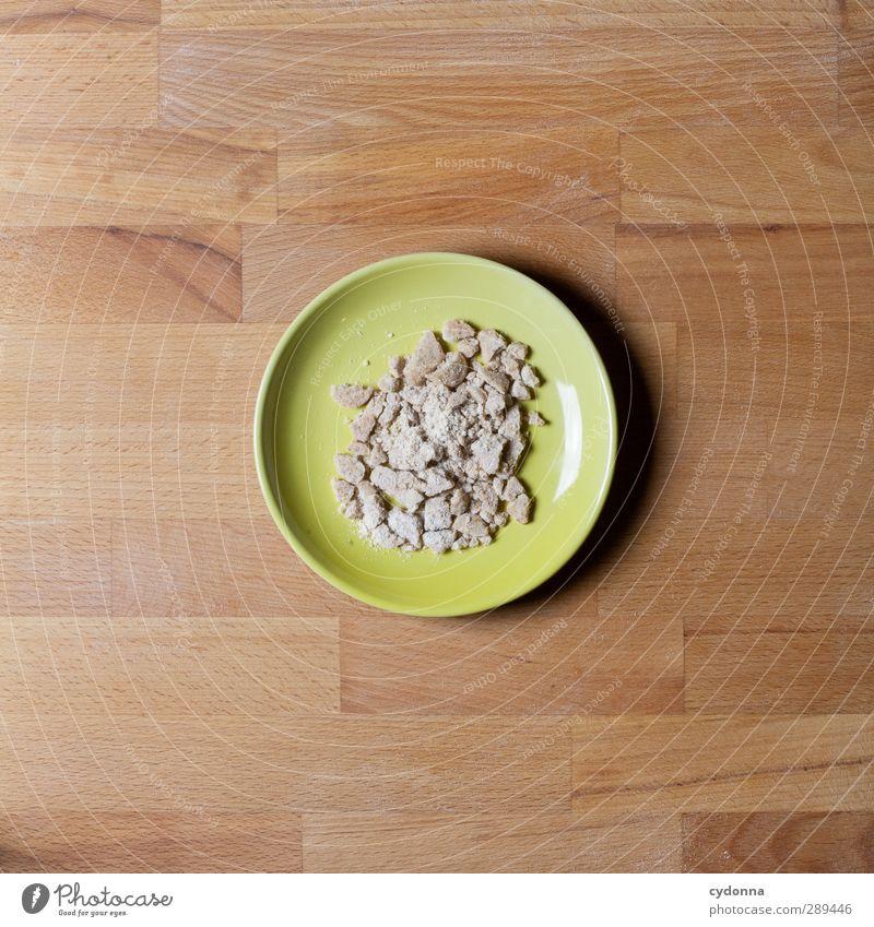 Übrig geblieben Lebensmittel Teigwaren Backwaren Süßwaren Ernährung Teller Lifestyle Gesunde Ernährung Beratung Erwartung Freude genießen Idee Inspiration