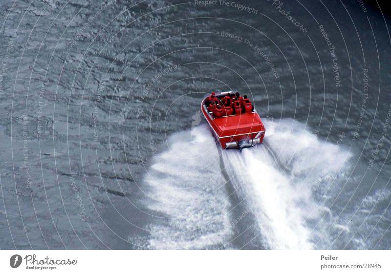 Shotover Jet (Rennboot) Shotover River Wasserfahrzeug Geschwindigkeit Abenteuer Wassersport Extremsport Fluss Düsenflugzeug