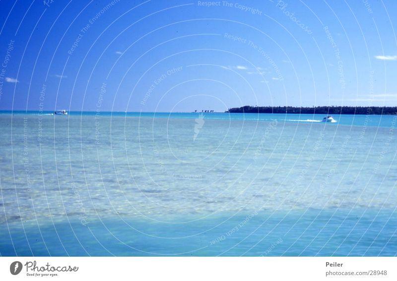 Aitutaki Wasser Himmel Meer blau türkis Karibisches Meer Pazifik