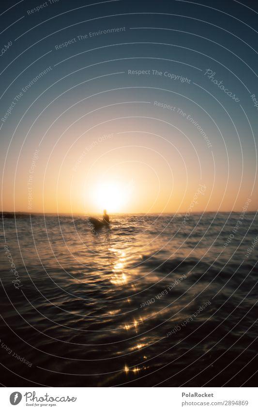 #AE# shine Lifestyle Kunst ästhetisch Surfen Surfer Surfbrett Surfschule Meer Wasseroberfläche Fuerteventura Farbfoto Gedeckte Farben Außenaufnahme