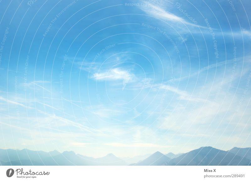 Winter Himmel blau Landschaft Berge u. Gebirge Wetter Schönes Wetter Alpen Gipfel