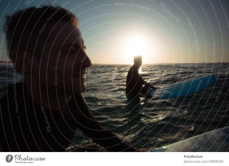 #ATE# we go Kunst ästhetisch Freude Freudenspender Freundschaft Surfen Surfer Surfbrett Surfschule Meer Meerwasser maskulin Mann Farbfoto Gedeckte Farben