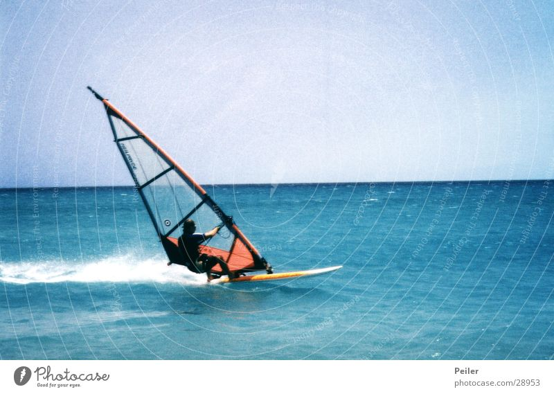 Life is too short to waste it Wasser Meer Wellen Wind Surfer Surfbrett Extremsport Windsurfing