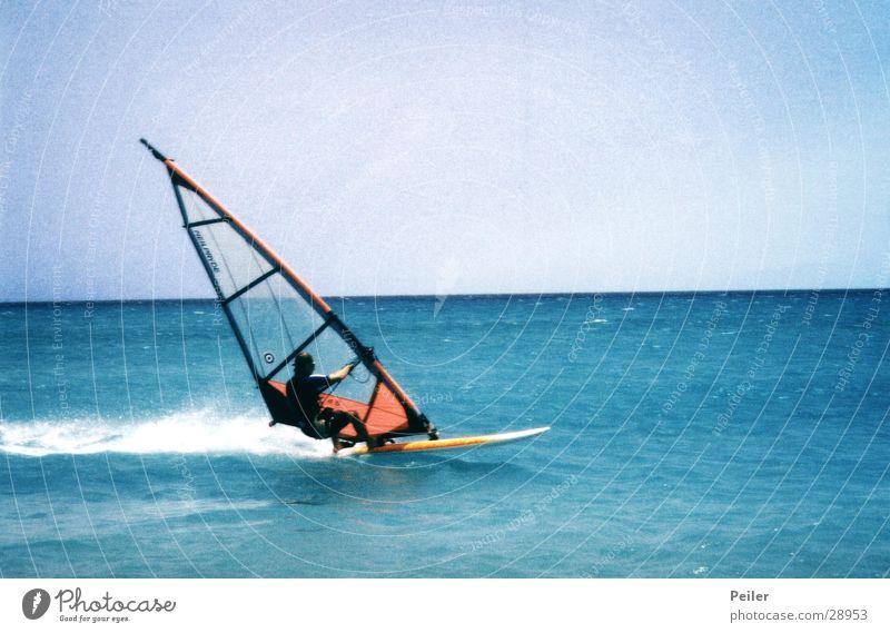 Life is too short to waste it Wasser Meer Wellen Wind Surfer Surfbrett Extremsport Windsurfing
