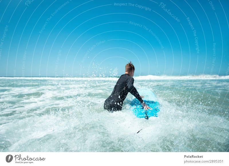 #A# forward Umwelt Schönes Wetter ästhetisch Surfen Surfer Surfbrett Surfschule Wassersport Neopren Neoprenanzug Farbfoto Gedeckte Farben Außenaufnahme