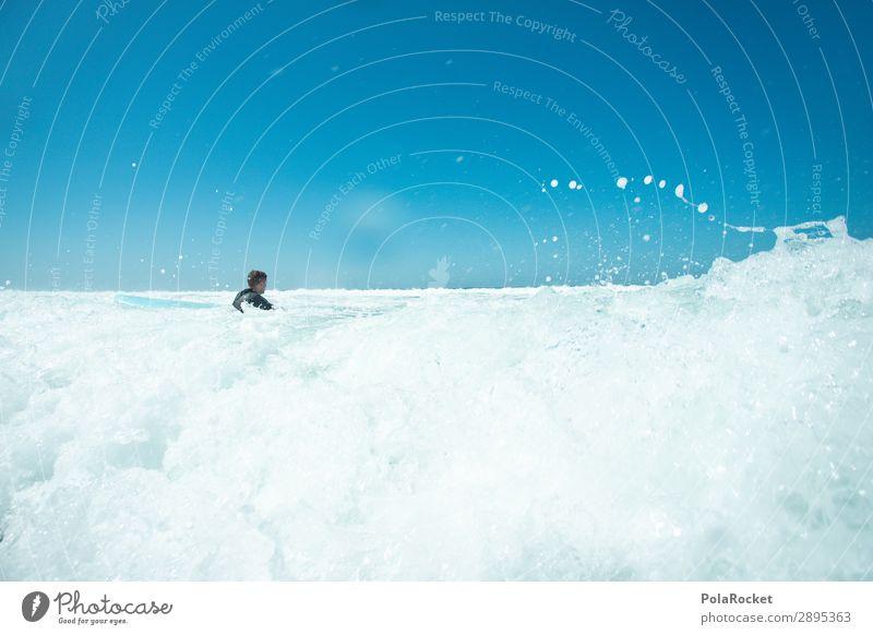 #A# white wash Meer Kunst Wellen ästhetisch Surfen Surfer Wellengang Surfbrett Wellenform Surfschule