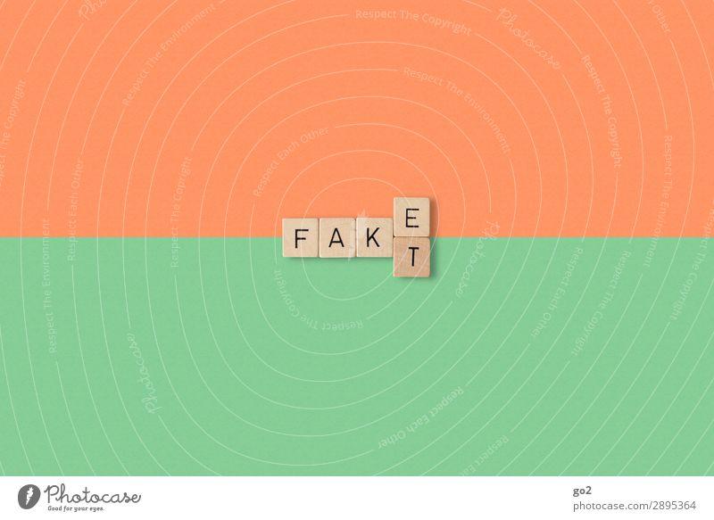 Fakt oder Fake? Spielen Schriftzeichen Kommunizieren authentisch Zukunft Wandel & Veränderung bedrohlich Zukunftsangst Internet Vertrauen Konflikt & Streit