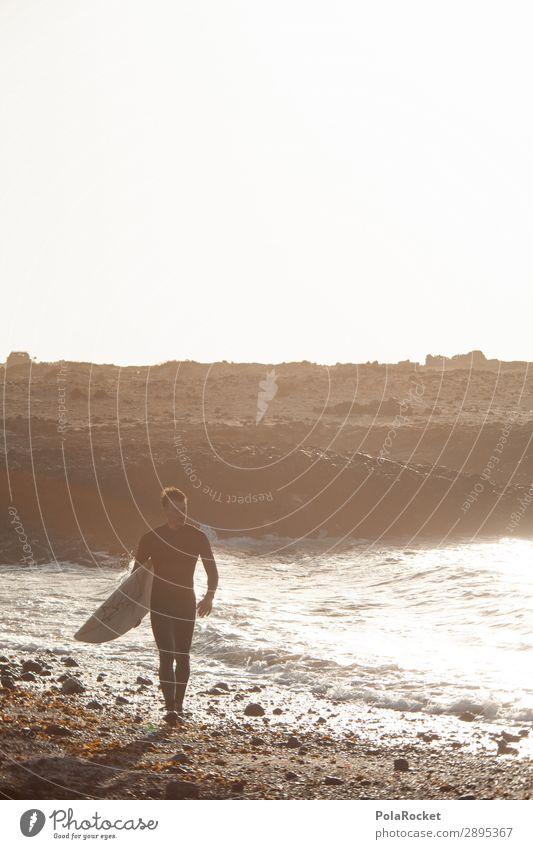#A# had some Umwelt Natur ästhetisch Surfen Surfer Surfbrett Surfschule Mann maskulin Meer Wassersport Extremsport Farbfoto Gedeckte Farben Außenaufnahme