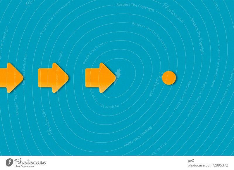 Orientierungspunkt Zeichen Schilder & Markierungen Hinweisschild Warnschild Pfeil Kreis ästhetisch einfach blau orange Genauigkeit Problemlösung planen