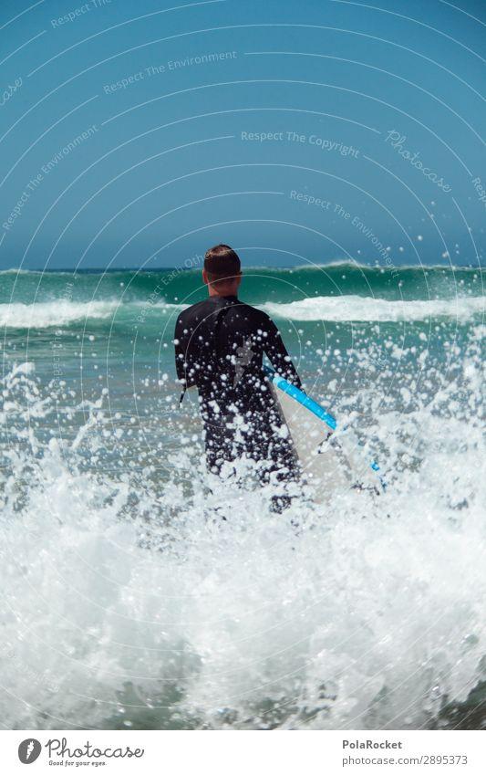 #AE# training Kunst ästhetisch Surfen Surfer Surfbrett Surfschule Meer Wellen Wellengang Wellenform Farbfoto Gedeckte Farben Außenaufnahme Detailaufnahme