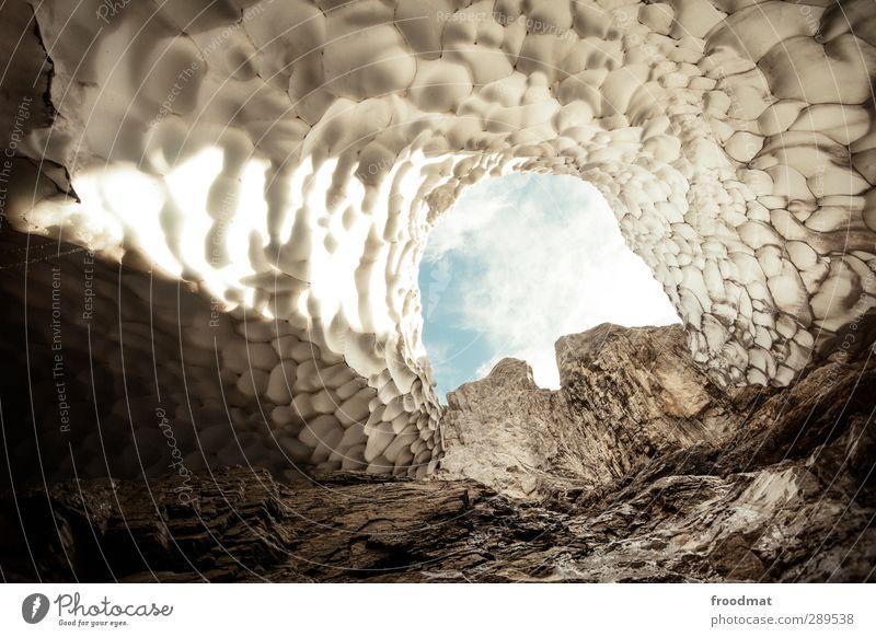 hohle erde Himmel Natur Ferien & Urlaub & Reisen Winter Umwelt Berge u. Gebirge kalt Eis Schönes Wetter Ausflug Abenteuer Urelemente Frost Alpen bedrohlich
