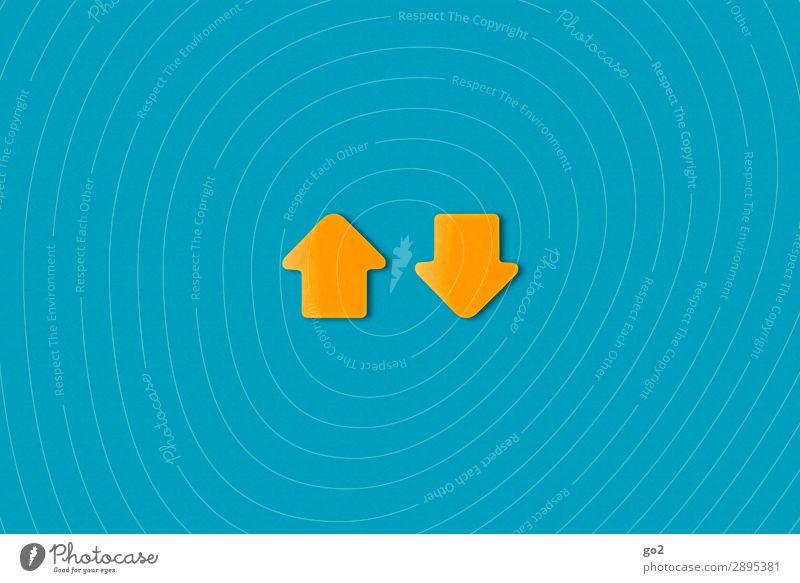 Auf und Ab sprechen Wege & Pfade oben Zufriedenheit Verkehr Kommunizieren Schilder & Markierungen Perspektive Beginn Papier Hinweisschild Wandel & Veränderung