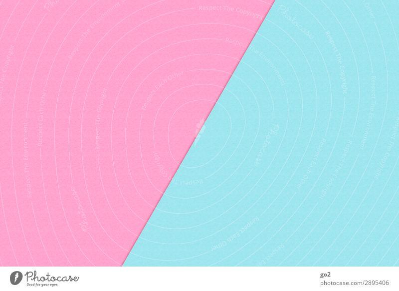 Babyrosa / Babyblau Basteln Papier Dekoration & Verzierung ästhetisch einfach Klischee Zufriedenheit Design Farbe gleich Inspiration Kreativität rein babyblau