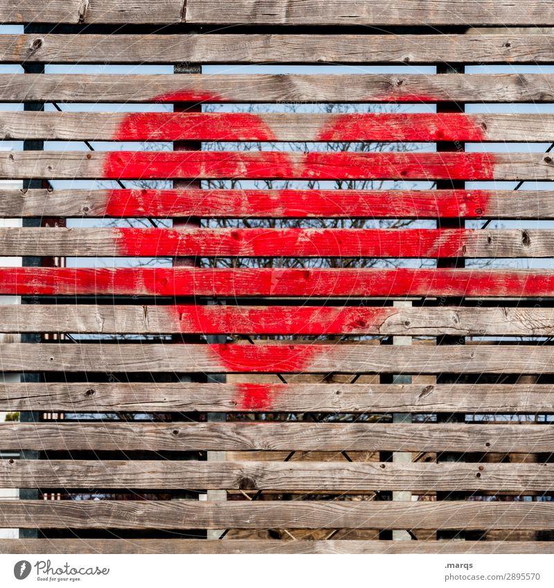 Herz Holz Graffiti Wand Liebe Mauer Romantik einfach Verliebtheit Holzwand