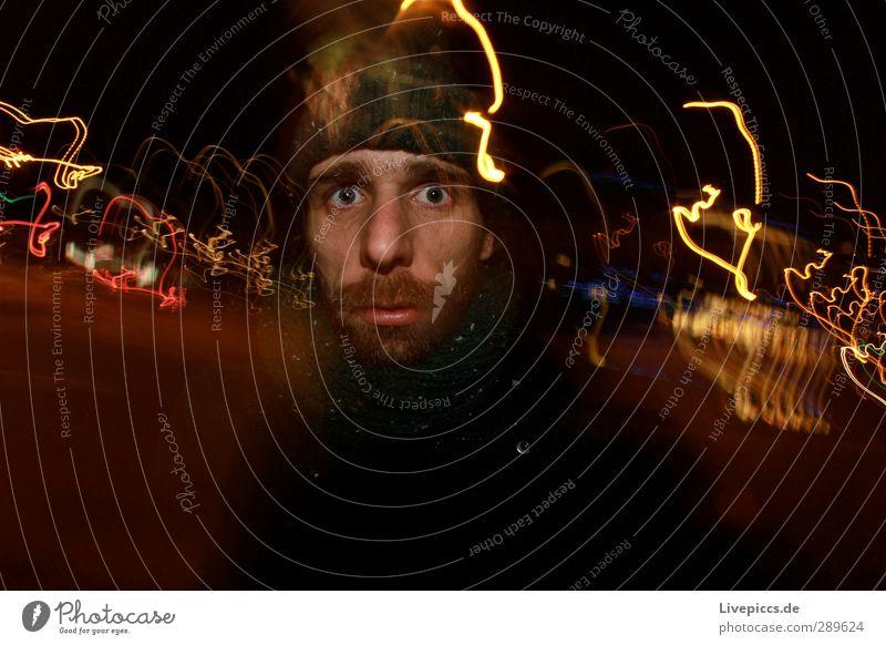Wat willst du? Nachtleben Mensch maskulin Mann Erwachsene Körper 1 30-45 Jahre Stadt Verkehr Verkehrsmittel Verkehrswege Straßenverkehr Blick mehrfarbig