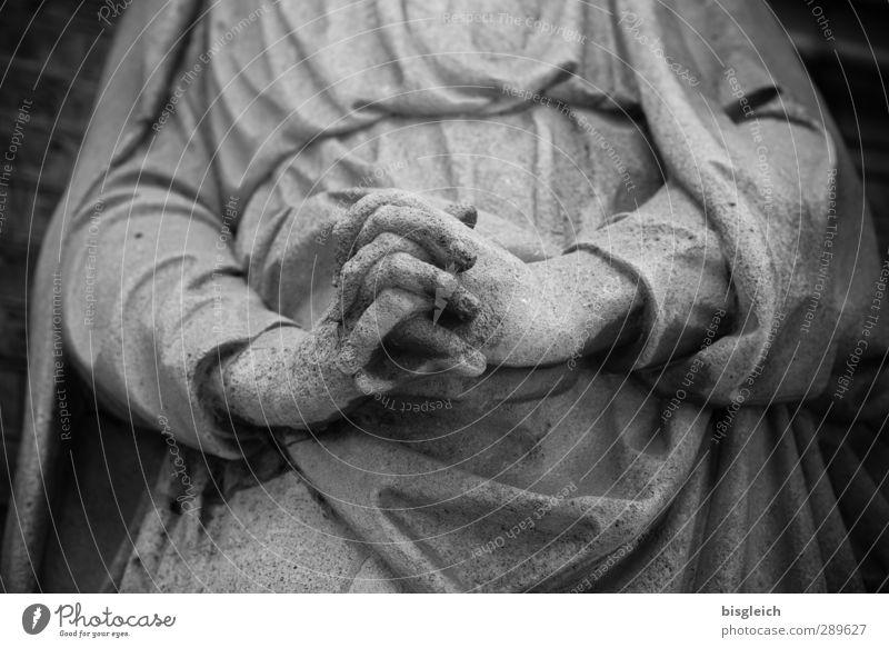 Betende Hände Mensch Hand ruhig feminin grau Stein Kunst Arme Hoffnung Glaube Gebet Skulptur Maria