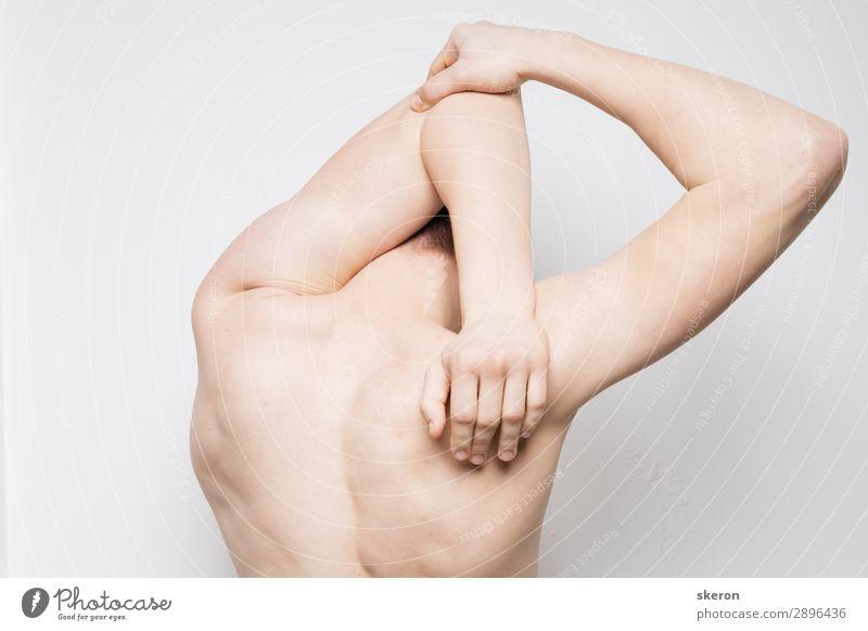 Körperteile: breiter athletischer Rücken. Massage und Stretching Lifestyle schön Körperpflege Haut Gesundheit Gesundheitswesen Behandlung Wellness Leben
