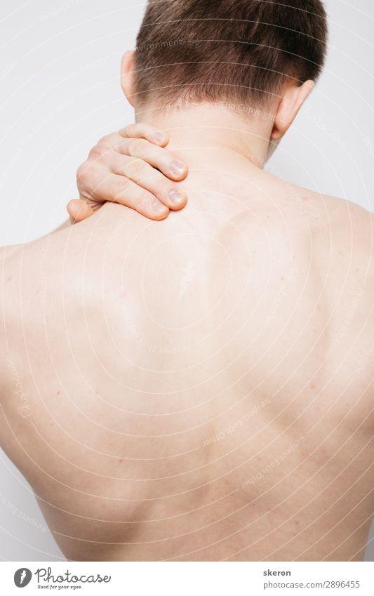Körperteile: breiter athletischer Rücken. Massage und Stretching Lifestyle elegant Haut Gesundheit Gesundheitswesen Behandlung Gesunde Ernährung Fitness