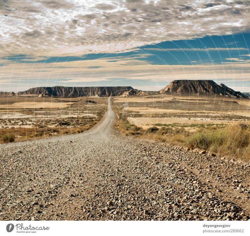 Himmel Natur Ferien & Urlaub & Reisen blau Sommer Landschaft dunkel Berge u. Gebirge Straße Stein Sand Felsen Horizont Wetter Park wild