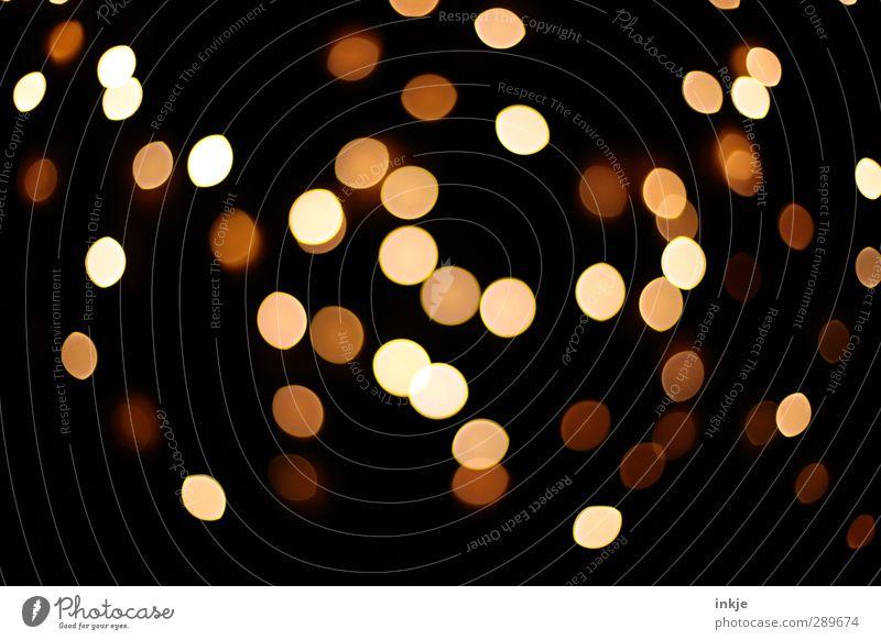 bling bling bling bling bling Dekoration & Verzierung Punkt Lichterscheinung Lichtermeer leuchten dunkel hell rund schön viele braun gelb schwarz Stimmung Fleck