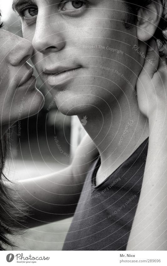 ja. Mensch Jugendliche ruhig Gesicht Erwachsene Liebe feminin Gefühle Glück 18-30 Jahre Paar Freundschaft Zusammensein Haut maskulin Zufriedenheit