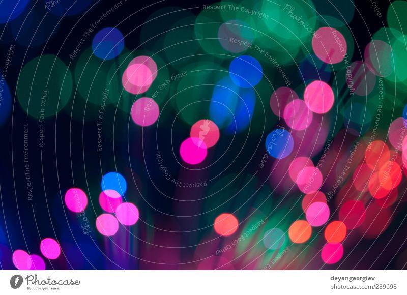 Blaue und rosa festliche Lichter und Kreise im Hintergrund Design Dekoration & Verzierung Feste & Feiern Kugel glänzend hell modern weich blau Farbe Weihnachten