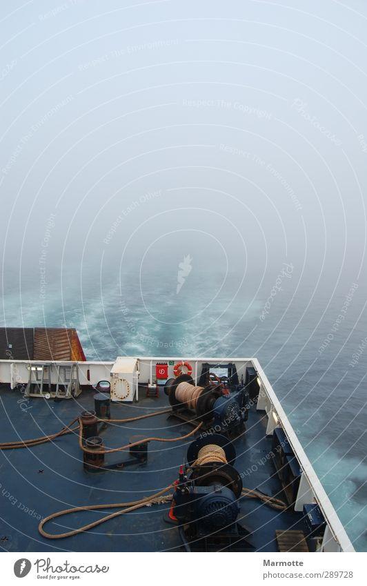 Foggy way to Norway Meer Einsamkeit Frühling Nebel Seil Unendlichkeit Nordsee Vergangenheit Schmerz Schifffahrt Passagierschiff
