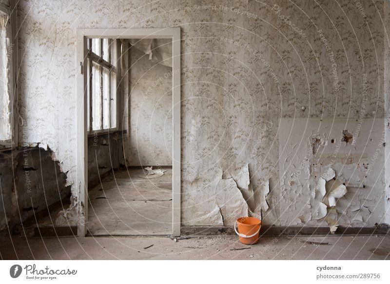 Durchgang Renovieren Umzug (Wohnungswechsel) Tapete Haus Mauer Wand Fenster Tür ästhetisch Beratung Einsamkeit Ende geheimnisvoll Idee einzigartig Leben