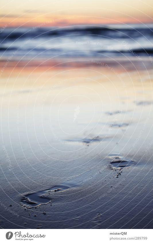 From The Ocean. Himmel (Jenseits) Meer Einsamkeit Küste Kunst Horizont Wellen Idylle ästhetisch Insel Unendlichkeit Spuren Surrealismus Fußspur Wellengang
