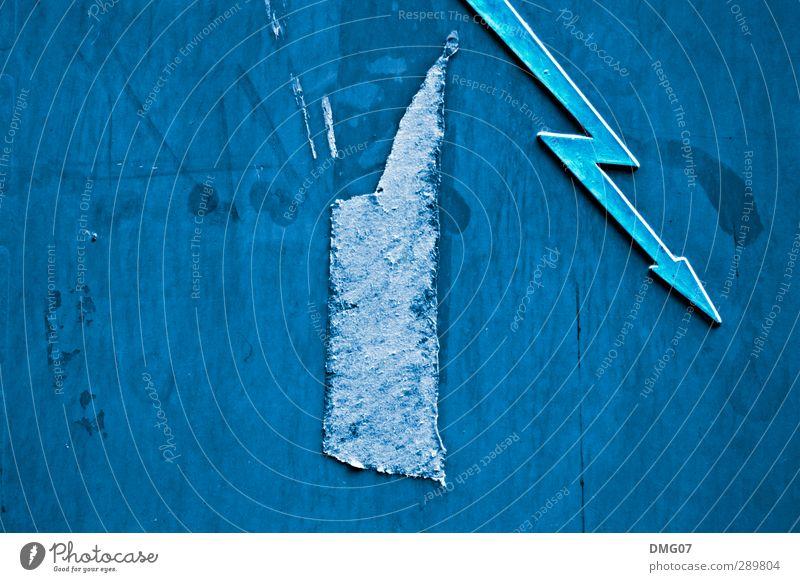 Flash in Blue Metall Angst Energiewirtschaft Schilder & Markierungen Zukunft Abenteuer Elektrizität Hinweisschild Telekommunikation Technik & Technologie