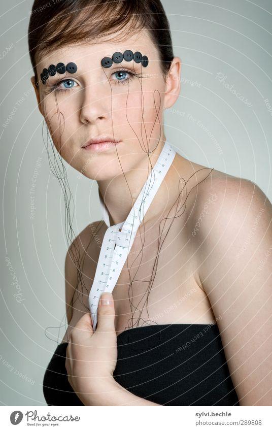 Nähen 2.0 Stil Design schön Haut Gesicht Kosmetik Schminke ruhig Freizeit & Hobby Handarbeit Karneval Maßband Mensch feminin Junge Frau Jugendliche Leben 1