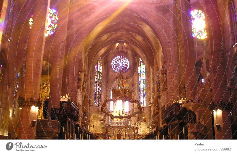 Schein im Dunkel Beleuchtung Gotteshäuser Religion & Glaube Kathedrale Fensterbild Lichterscheinung Farbe