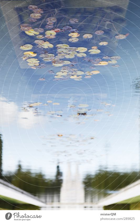 As above, so below Kunst ästhetisch Reflexion & Spiegelung Perspektive abstrakt Seeufer Teich Brunnen Portugal Lissabon ruhig wellenlos seicht Gewässer