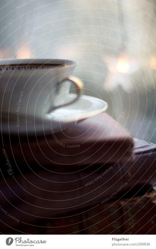 Märchenabend Getränk Heißgetränk Tee heiß Tasse Stern Lichterkette Buch alt Weihnachten & Advent lesen Bildung Arbeit & Erwerbstätigkeit Abend Feierabend