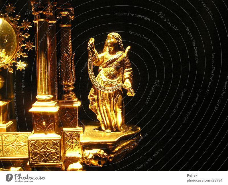 Engerla flieg... glänzend Engel historisch gold Lampe Religion & Glaube Güldern