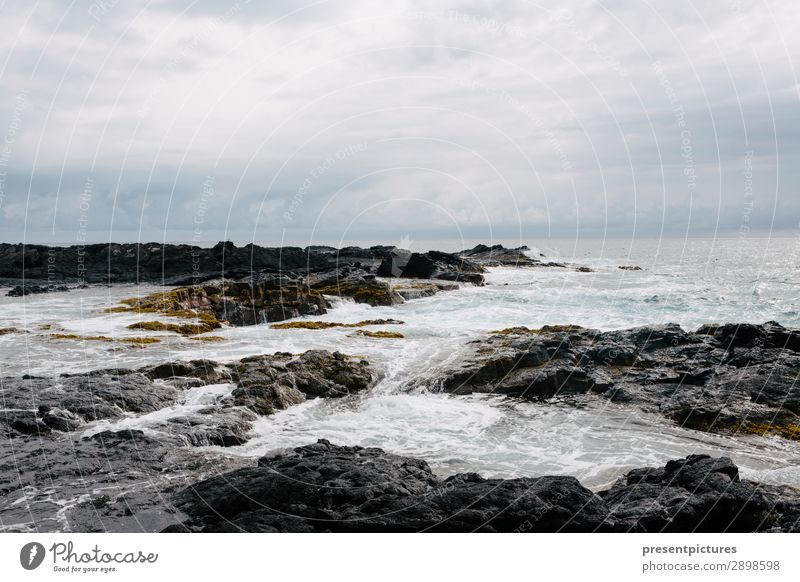 Grace abounds in deepest waters ruhig Ferien & Urlaub & Reisen Abenteuer Ferne Freiheit Meer Wellen Natur Landschaft Erde Wasser Wolken Gewitterwolken Wetter