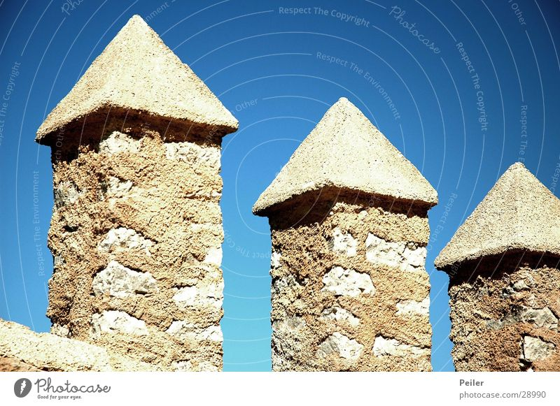 Three Towers Himmel Sonne blau Stein Architektur 3 Turm Spitze