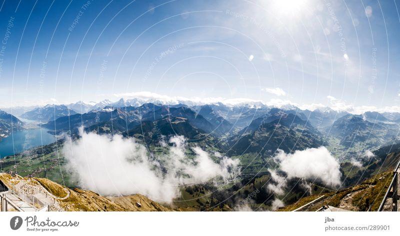 Berner Oberland Leben Erholung ruhig Ausflug Freiheit Sommer Berge u. Gebirge wandern Umwelt Natur Landschaft Urelemente Luft Himmel Wolken Sonne Herbst