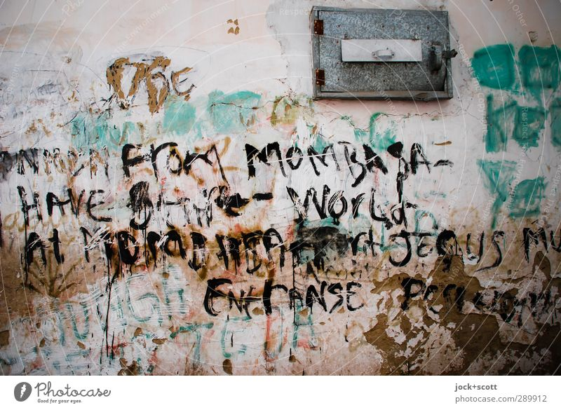 Mombasa ... Streetart Stadt Ferne Wand Graffiti Mauer Denken Metall dreckig einfach Idee planen Hoffnung Glaube Vertrauen Leidenschaft Information