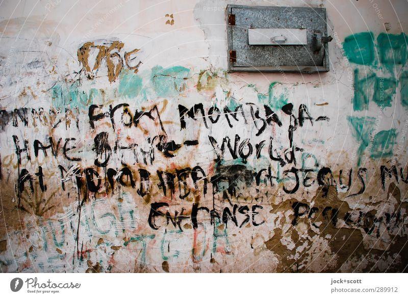 Mombasa ... Streetart Subkultur Kenia Mauer Klappe Metall dreckig exotisch Gesellschaft (Soziologie) Idee Christentum Gedanke unvollendet Straßenkunst