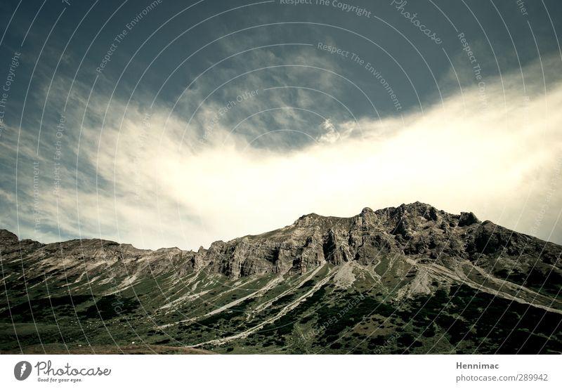 Go tell it on the mountain…I Himmel Natur Ferien & Urlaub & Reisen blau grün Sommer Erholung Landschaft Wolken Ferne Berge u. Gebirge grau Freiheit Stein