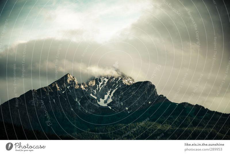 jetzt aber zackig, 2013! Natur Landschaft Wolken Ferne Wald Berge u. Gebirge Umwelt Herbst Schnee groß Schönes Wetter Urelemente Gipfel Alpen