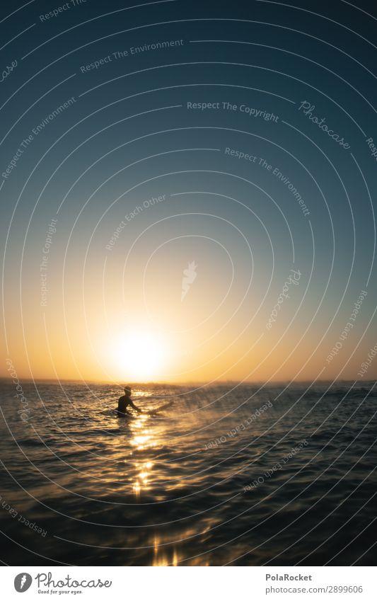 #AE# Golden Boy Kunst ästhetisch Surfen Surfer Surfbrett Surfschule Romantik Kitsch Klischee Meer Wassersport Freiheit Freizeit & Hobby Ferien & Urlaub & Reisen