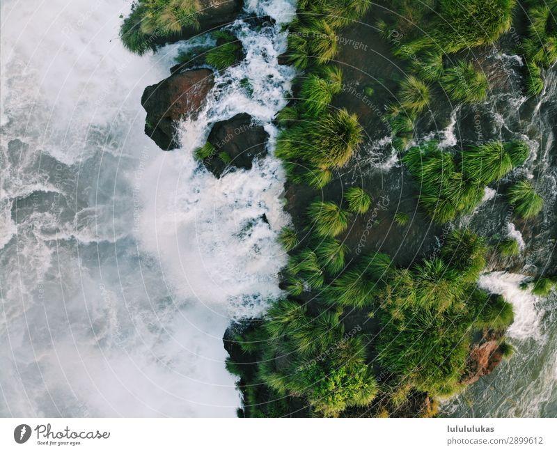 das ist ein wasserfall II Ferien & Urlaub & Reisen Tourismus Abenteuer Ferne Iguazu Fälle Iguazu NP Wasser Wasserfall Natur Naturschutzgebiet grün Grünpflanze