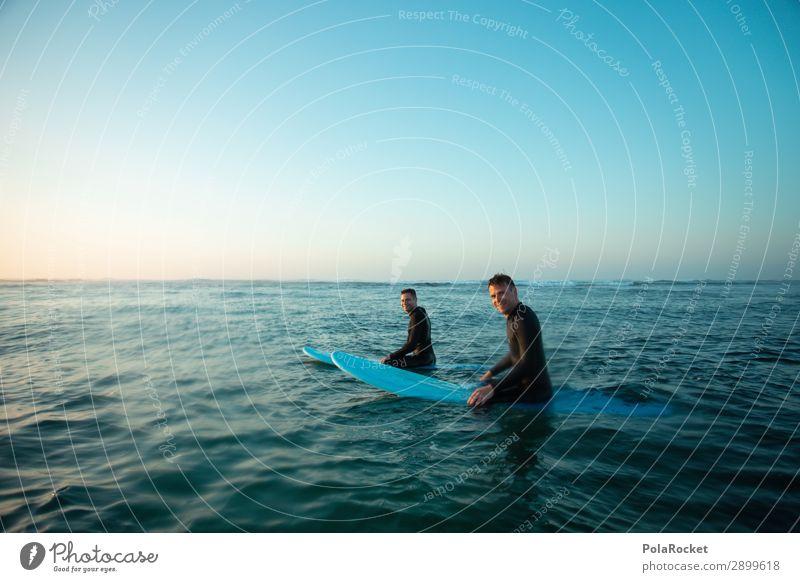#ATE# after work Kunst Surfen Surfer Surfbrett Surfschule Freundschaft Meer Freiheit blau Wellengang Erholung Ferien & Urlaub & Reisen Urlaubsfoto