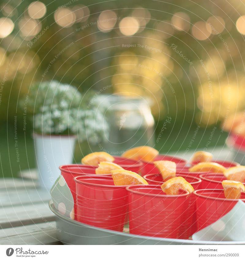 Welcome summer! Sommer rot Frühling Feste & Feiern Party Garten Lebensmittel Orange Lifestyle Fröhlichkeit Dekoration & Verzierung Ernährung Getränk genießen