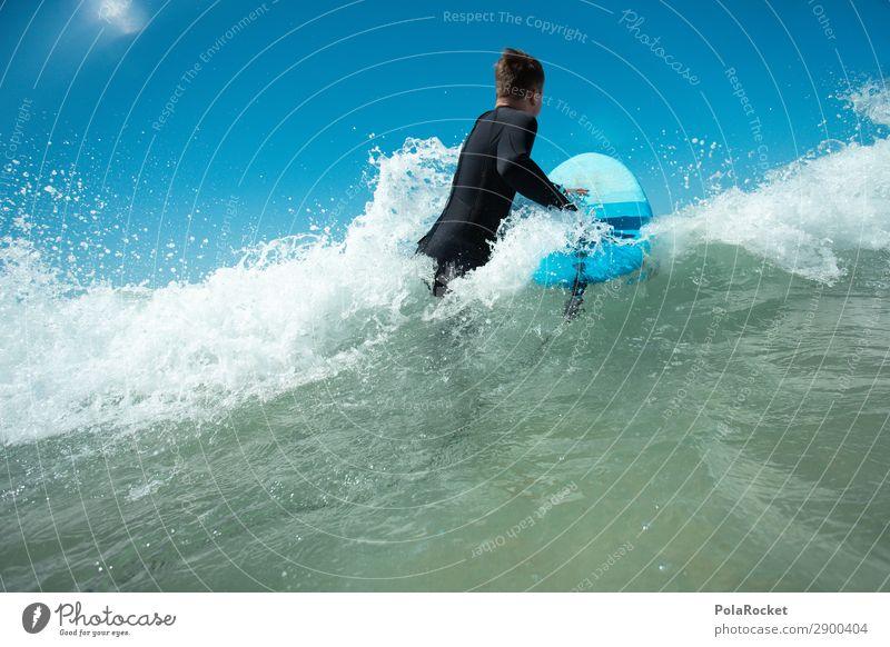 #AE# Feeling It Kunst ästhetisch Surfen Surfer Surfbrett Surfschule Wassersport Meer blau Wellengang maskulin Farbfoto mehrfarbig Außenaufnahme Detailaufnahme