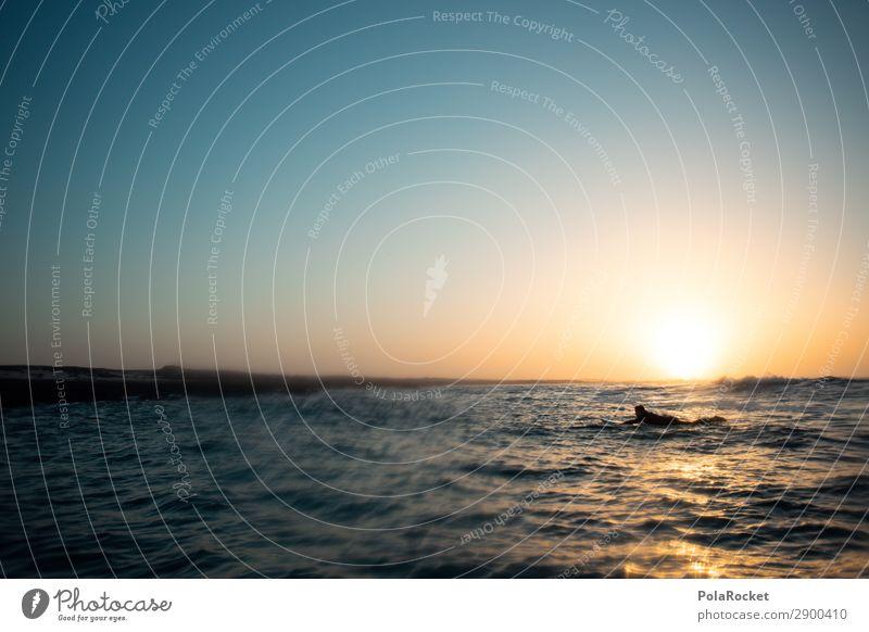 #A# coming back Meer Erholung Kunst ästhetisch Idylle Wasseroberfläche Surfen Surfer Wellengang Surfbrett Surfschule
