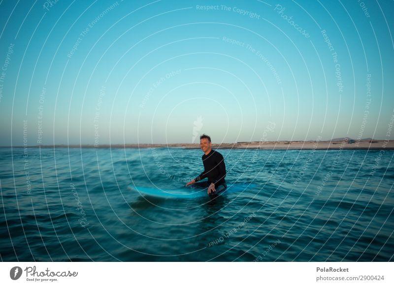 #AE# enjoying life Ferien & Urlaub & Reisen Mann Meer Erholung Kunst maskulin ästhetisch Idylle Meditation mediterran Surfen Wassersport Surfer Urlaubsfoto
